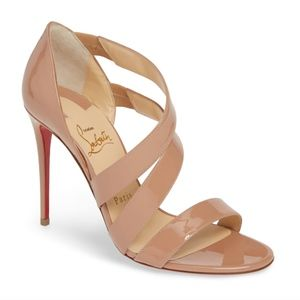 CHRISTIAN LOUBOUTIN World Copine Asymmetrical Sand